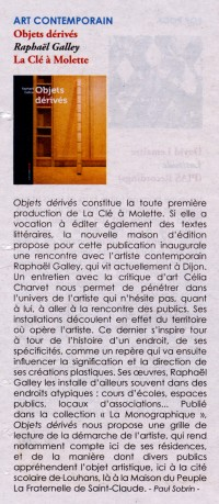 article journal Diversions, Objets dérivés de Raphaël Galley, La clé à molette éditions