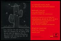 flyer de l'exposition Le dernier Mur / Mur